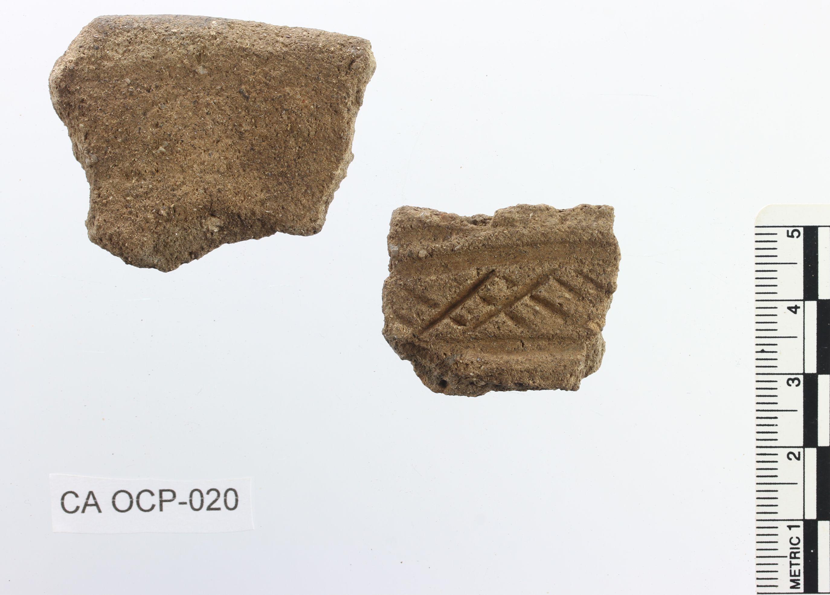 Transición 1ª-2ª Edad del Hierro. Olla con decoración incisa. O Cepo (San Cibrao de Viñas, Ourense)