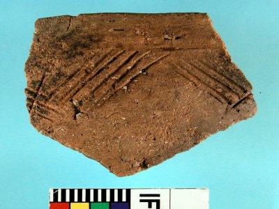 CAMTN/05: Neolítico Final. Cerámica tipo Penha: Cuenco inciso-metopado. Poblado de Montenegro (Moaña, Pontevedra)
