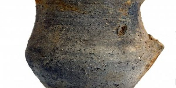 CAFS064: Plena Edad Media. Jarra tipo vaso. Basílica de Augas Santas (Allariz, Ourense)